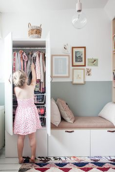 Diy bench · wardrobe furniture · ikea wardrobe hack in charming little girl's bedroom ikea kids wardrobe, kids wardrobe storage, Little Girl Bedrooms, Big Girl Rooms, Kids Rooms, Ikea Kids Room, Ikea Hack Kids Bedroom, Girls Bedroom Ideas Ikea, Ikea Bedroom Storage, Girls Bedroom Furniture, Bedroom Girls