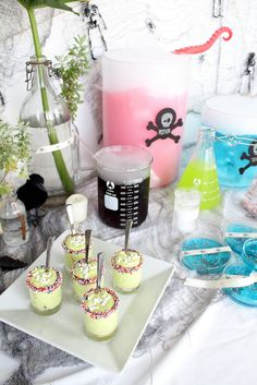mad scientist halloween party by sugar and cloth