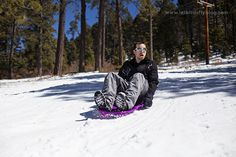 Sledding at US Hill is Taos, NM.