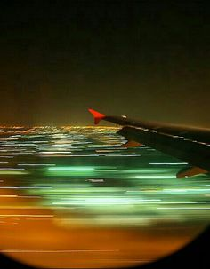 Zooming lights at take-off