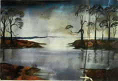 Paintings by Amateur Indian Artists at Government Degree College, Solan: Landscape
