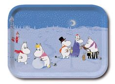 Moomin - Wooden tray -Wintergames- 27x20 cm (Opto Design) [101-70]