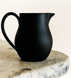 black pitcher - need to find a black creamer pitcher for the office boardroom!