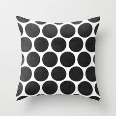 black polka dots Throw Pillow Polka Dot Art, Polka Dot Walls, Blue Polka Dots, Black Dots, Throw Pillow Covers, Throw Pillows, Farm Yard, Little Girl Rooms, Colour Schemes