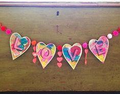 Small for Big diy valentine's garland the craftycrow.net/valentines_/