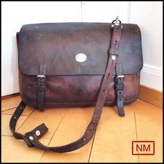 Vintage Swiss Army Leather Backpack -Leather Rucksack for Gunsmith Tools-Made in Switzerland  in 1930s-Change Straps to Use Messenger Bag