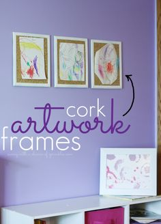 DIY Artwork Cork Board, so you can change your artwork more often