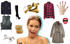 """*Snort* - 13 Outfit Suggestions for Jennifer Lawrence to Achieve Her Dream """"Slutty Power Lesbian"""" Aesthetic..."""