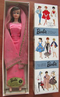 "Vintage Brunette Swirl Barbie Dressed Doll in ""Arabian Nights"" MIB"