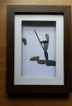 Pebble Art: Fisherman by CornishPebbleArt on Etsy https://www.etsy.com/listing/233806551/pebble-art-fisherman