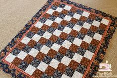 Super cute and easy baby quilt. Western Quilts, Cowboy Quilt, Cowboy Theme, Quilting Projects, Quilting Ideas, Free Motion Quilting, Machine Quilting, Sewing Tutorials, Baby Quilts