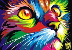 gato arte abstracto - Buscar con Google