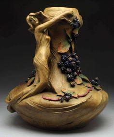 Amphora Nymph with Berries Vase