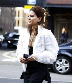 Trendy Fashion Style for SS 15: Fringe. Christine CenteneraStreet Style during Spring Summer 2015 London Fashion Week LFW.
