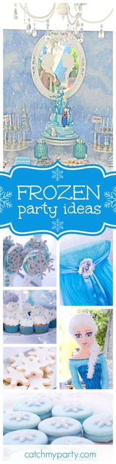 Don't miss this spectacular Frozen birthday party! The Elsa pinata is amazing!! See more party ideas and share yours at CatchMyParty.com