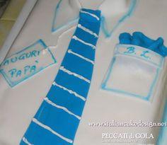 Torta camicia con crema allo spumante per Festa del Papà