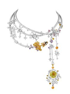 Brooches Jewels : Van Cleef Arpels Tampa Necklace Out of this World Jewelry in the Space Age Van Cleef Arpels, Van Cleef And Arpels Jewelry, Space Jewelry, High Jewelry, Jewelry Necklaces, Jewelry Design, Heart Jewelry, Designer Jewelry, Crystal Jewelry