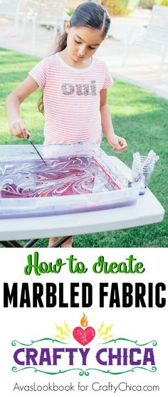 How to create marbled fabric, CraftyChica.com