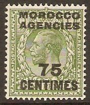 Morocco Agencies 1925 75c on 9d Olive-green. SG208.