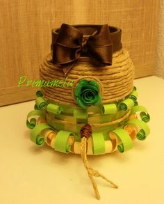 Recycle glass whit quilling art https://m.facebook.com/Primamela-618616944921762/
