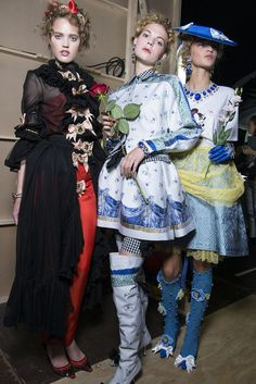 Check Meadham Kirchhoff's SS13 backstage snaps as seen in the Topshop Showspace. #TOPSHOP #LFW #SS13 #MEADHAMKIRCHHOFF