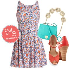 """Flowers at Sunrise Dress"" by modcloth on Polyvore"