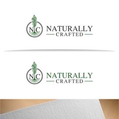 Naturally Crafted - Create a natural, high-end, sustainable construction company logo