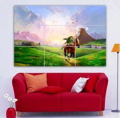 """The Legend of Zelda Cartoon Giant Print Poster Wall Decal Art for Children Bedroom Kids Room Decorations Huge Photo 36"""" 52"""""""