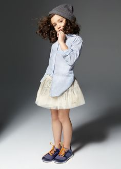 Spring Summer 2014 | Adolfo Dominguez Kids | tutu with shirt  trainers