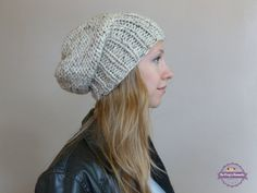 Knit Slouch Hat ANY COLOR, Knitted Slouch Beanie Beret, Women's Knit Slouchy Sacking Hipster Hat, Women's Men's Baggy Beanie, Accessories by BoPeepsBonnets, $28.00