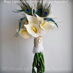 Superstition time! Don't use any of these- peacock feathers (my mum thinks they're unlucky) white lillies (my gran thinks they're for funerals only