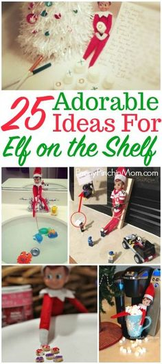 25 Fun Elf on the Shelf Ideas for you and your family to enjoy this holiday season! Funny Christmas Games, Christmas Party Games, Christmas Humor, Christmas Holidays, Christmas Crafts, Christmas Decorations, Christmas Ideas, Xmas Elf, Xmas Party