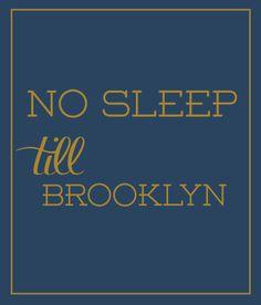 luvloo Canvas Print  No Sleep Till Brooklyn - Luvloo - $45.00