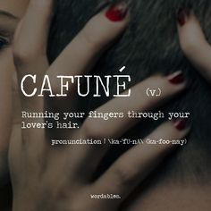 Not only your lover's hair, but anyone you love.