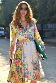floral dress,sleeves,spring
