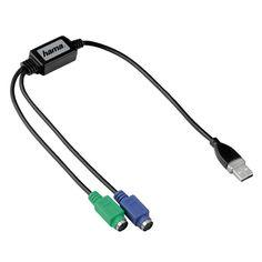 HAMA USB zu PS/2 Adapter für Tastatur, Maus zu PS2