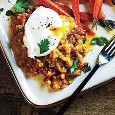 Spiced Lentils and Poached Eggs Recipe. Great start, needs a little something more.