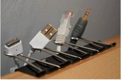 For all those cables and cords.....GENIUS organization idea...haha lol