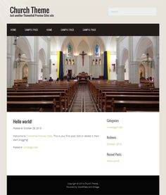 This free church WordPress theme has a responsive layout, a widgetized footer, easy customization, custom colors, a simple design, and more.