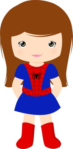 Minus - Say Hello! Spider Girl, Superhero Classroom, Superhero Birthday Party, Hero Girl, Cute Images, Supergirl, Batgirl, Cartoon Characters, Paper Dolls