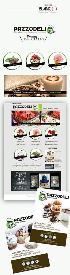 Imagen Corporativa y Web para Pazzodeli Pastelería, por Diseño Blanco