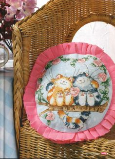 Margaret Sherry Cats on a Branch Cross Stitch Crazy Issue 160 February 2012 Hardcopy & Saved Butterfly Cross Stitch, Cross Stitch Rose, Cross Stitch Animals, Counted Cross Stitch Patterns, Cross Stitch Designs, Pretty Animals, Tatty Teddy, Cross Stitching, Needlepoint