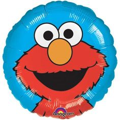 Anagram 17 inch Elmo on Blue Background Foil Balloon Welcome your guests to the Elmo World! This spherical 18-inch Elmo Portrait foil balloon is ready to bring the Muppet fun to your party. Featuring your kid's favorite furry red Muppet, Elmo, portrait printed on a solid blue background. This foil balloon will surely complete your kid's Sesame Street dream party!  QUALITY PRODUCTS ALWAYSOUR PRODUCTS ARE 100% AUTHENTIC & GENUINE100% OF THE TIME Foil balloons make decorating for your par...