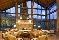 Large great room in this rustic timber frame ... | I Sure Could Live ...