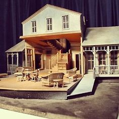 Set model by John Lee Beatty for #LongDaysJourneyIntoNightat #guthrietheater. #technicaltheatre, #theater #theater #setdesign