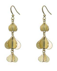 Love in Spades Earrings in Brass