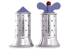 Michael Graves (designer), Alessi MGSAL Salt Castor, 1990 and Alessi 9098 Pepper Mill, 1998 Innovative Architecture, Architecture Design, Michael Graves, Kitchen Dining, Kitchen Small, Shops, Alessi, Postmodernism, Kitchen Gadgets