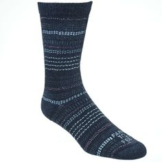 Farm to Feet Women's 8588 015 Grey USA-Made Broken Stripe Socks