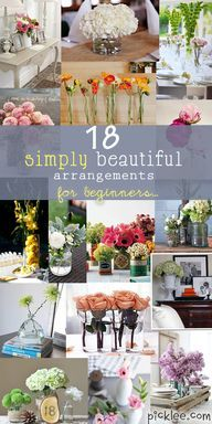 Simply Beautiful Floral Arrangements For Beginners {Inspiration} | Picklee
