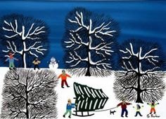 Christmas Greeting Card: We've got our Tree by Gordon Barker. This card is blank inside for your own message. Individually printed by Art Cove Cards.